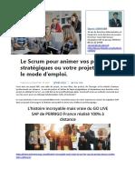 Piloter Un Projet SAP en Mode Agile Avec Le Scrum