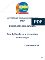GUA DE ESTUDIO PSICOPATOLOGIA INFANTIL