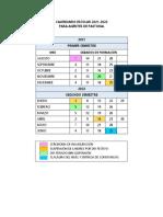 DIAS Y HORAS DE CLASE POR ASIGNATURA