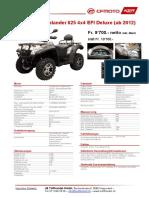 CFMoto ATV Terralander 625. Specifications.Deutsch