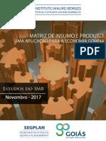 Matriz de Insumo e Produto Uma Aplicacao Para Economia Goiana