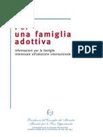 Informazioni per le famiglie interessate all'adozione internazionale