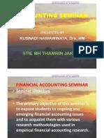 Accounting Seminar 1 [Topic]