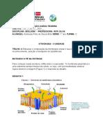 Andressa Pinto de Souza Brito - Trilha 4 - Membrana Plasmática - Atividade