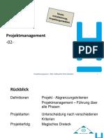 1_02 PM FI SS21 - Initialisierung I, P.organisation 17.03.
