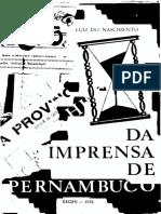 NASCIMENTO, L. História da Imprensa de Pernambuco VII