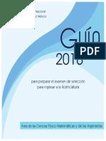 Guía área fisico matematicas UNAM