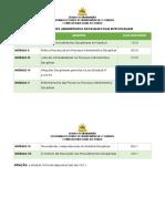 CRONOGRAMA - CURSO  - PROCESSO ADMINISTRATIVO DISCIPLINAR E SUAS ESPECIFICIDADES