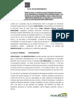 ACTA DE ENTENDIMIENTO MUNICIPALIDAD DE HUANCABAMBA