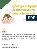Tecnologias de Mitigação na produção agrícola