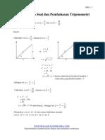 Contoh-contoh Soal dan Pembahasan Trigonometri untuk SMA