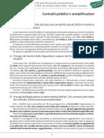 Contratti pubblici e semplificazioni