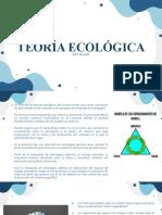 TEORIA ECOLOGICA Y SCHMIDT