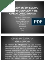 SELECCIÓN DE UN EQUIPO DE REFRIGERACIÓN Y DE