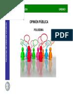 OP Unidad I Polisemia Opinión Pública