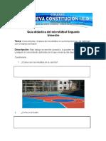 Guía didáctica del microfútbol Segundo trimestre