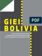 Bolivia Informe final del GIEI-Bolivia