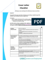 Info Sheet - cover letter checklist