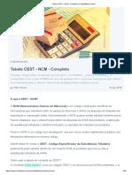 Tabela CEST - NCM - Completa _ Contabilidade Online