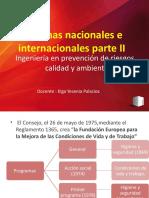 Normas nacionales e internacionales parte II