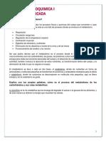 Bioquimica I. a Que Se Le Llama Metabolismo.