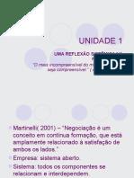Técnicas de Negociação - Unidade 1