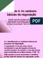 Técnicas de Negociação - Unidade 4