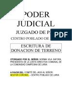 ACTA DE DONACION SANEAMIENTO