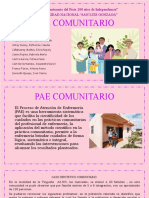 PAE COMUNITARIO, SEMANA 14