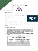 Liga Elite de Bogotá 2021 uno