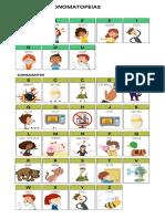 Alfabeto Onomatopeias Tabela 2-1