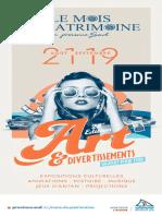 Programme - Mois Du Patrimoine 2021
