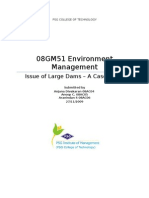 Issues of Large Dams - Case Study