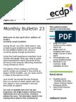 ecdp Monthly Bulletin 23