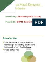 Metal Detectors in Food Industry - Aman Paul