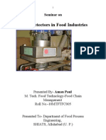 metal detectors in food industry- Aman Paul