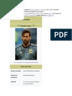 Biografía de Messi