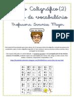 Apostila Treino Caligráfico 2 e Vocabulário IVANISE MEYER 2018