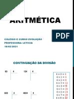 Aritmética 18.02 (4)