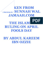 Islamic Ruling On April Fools Day