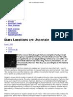 Stars Locations are Uncertain
