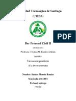 3 Tarea de Derecho Procesal Civil II
