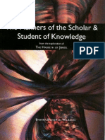 The Manners of the Scholar & Student of Knowledge 38 Pages