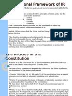 Constitutional Framework of IR
