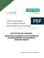 EnqueteCOORACE MarchesPublics Restitution