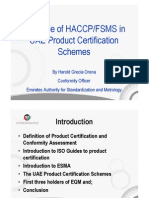 Role of Food Safety Management Systems in Product Certification