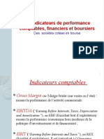 Indicateurs de Performance Comptables, financiers et boursiers