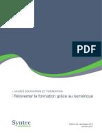 2017 01 Cahier Education Formation - Syntec Numerique