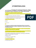 Neuroanatomofisiologia - Perguntas unificadas
