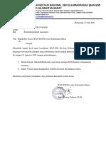 Perubahan Jadual Asessmen Kecukupan BAN-SM Prov.kalbar 2021